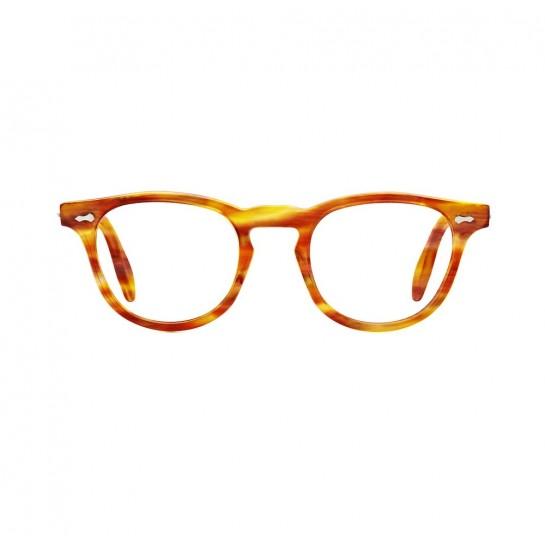 James Dean eyeglasses Universal Optical Mansfield Square demi amber