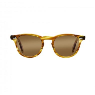 James Dean sunglasses Universal_Optical Mansfield Square Crystal Honey brown lens