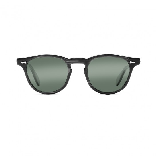 James Dean sunglasses Universal Optical Mansfield Square black green lens